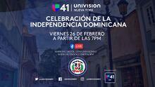 Así puedes ver el programa especial de Univision 41 por el Día de la Independencia Dominicana