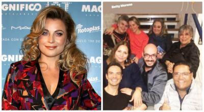 Emotivo reencuentro de Ludwika Paleta con algunos de sus compañeros de 'Carrusel'