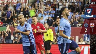Un golazo de taco de Héber decidió el Hudson Derby a favor del NYCFC