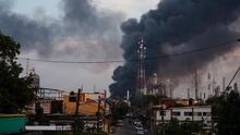 Siete heridos tras el incendio de una refinería petrolera en México