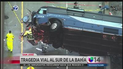 Volcadura de autobús de Greyhound en San José deja a dos muertos y 13 heridos