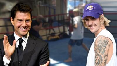 Mánager de Justin Bieber habría dicho que el reto para pelear contra Tom Cruise va en serio