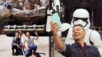 Régulo Caro y su hijita visitaron el nuevo parque Star Wars: Galaxy's Edge (y hasta volaron en el Millennium Falcon)