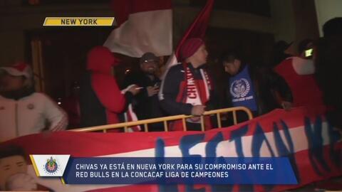 Ni la temperatura bajo cero frenó el recibimiento de los fans a las Chivas en New Jersey