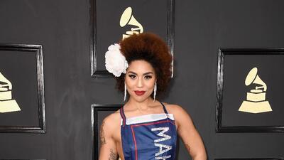 Joy Villa y su vestido 'Make America Great Again' encienden la primera polémica en los Grammy