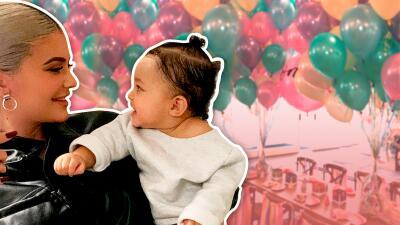 Kylie Jenner y Travis Scott muestran con estas fotos el colorido primer cumpleaños de su pequeña Stormi