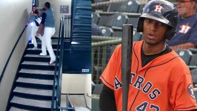 (Advertencia, contenido gráfico) Sale a luz pública video de beisbolista que golpea brutalmente a su novia