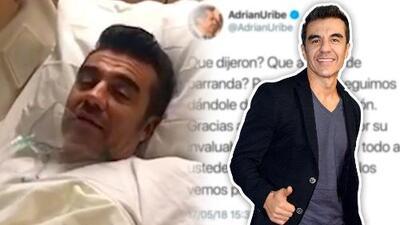 Adrián Uribe reaparece en redes, aunque sigue hospitalizado