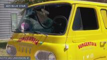"""Vandalizan camión de comida """"Burgerteca"""" en San Antonio"""
