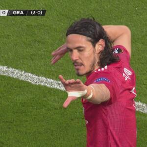 ¡Golazo de Cavani! Define de volea el 1-0 y sentencia al Granada