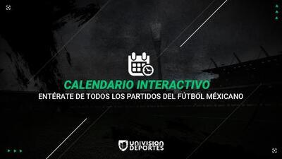 Calendario Liga MX y Copa MX, Grupos, Horarios y Resultados de los Partidos