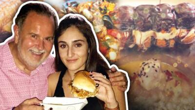 Las penas con pan son menos: Raúl de Molina y su hija se despidieron entre comida y postres