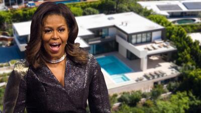 Esta es la exclusiva casa de 23 millones de dólares que alquila Michelle Obama en Los Ángeles