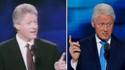 El discurso de amor de Bill Clinton en tres convenciones