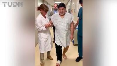 ¡Quedó como nuevo! Así luce Diego Maradona tras su operación de rodilla