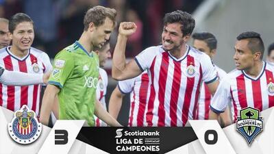 Chivas evitó la trifecta de la MLS bailando 3-0 al Seattle a punta de golazos