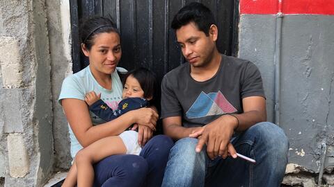 El primer bebé herido en las protestas de Nicaragua espera en la puerta de EEUU para pedir asilo