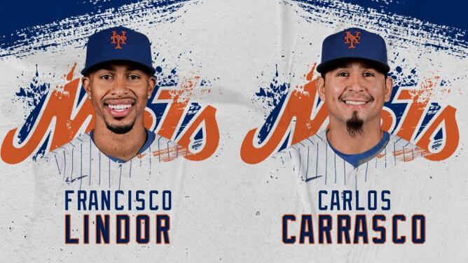 Francisco Lindor y Carlos Carrasco llegan a New York Mets