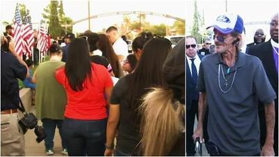 Viudo de tiroteo en El Paso, Texas, fue acompañado por una multitud para despedir a su esposa