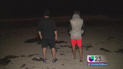 Turistas y residentes de Miami Beach festejan la partida del huracán Matthew