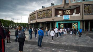 La Basílica de Guadalupe en Ciudad de México ha cerrado sus puertas muy pocas veces en su historia