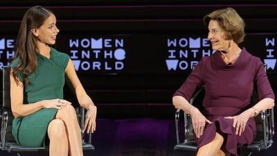 Laura Bush prefiere un presidente que se preocupe por las mujeres en Afganistán