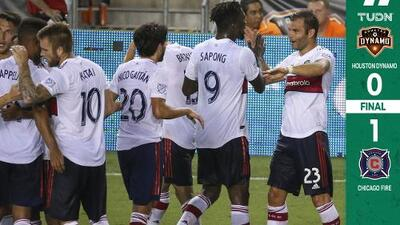 Un pase mágico de Nicolás Gaitán revive al Chicago Fire en casa de Houston Dynamo