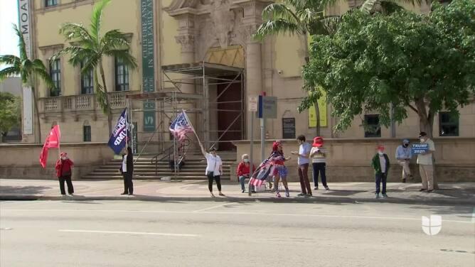 Seguidores de Trump se reúnen en Miami para protestar los resultados de la elección