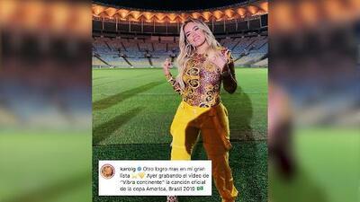 Karol G hará la canción oficial de la Copa América 2019