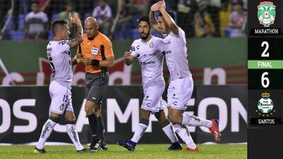 Con estos goles Santos destrozó a Marathon en la Liga de Campeones de CONCACAF
