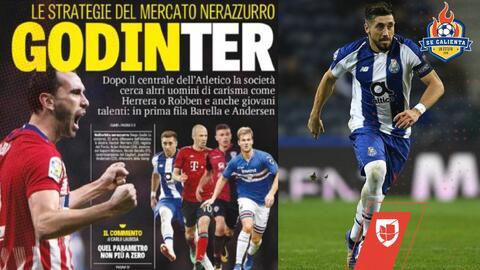 Después de fichar a Diego Godín, el Inter de Milán quiere a Héctor Herrera y a Arjen Robben