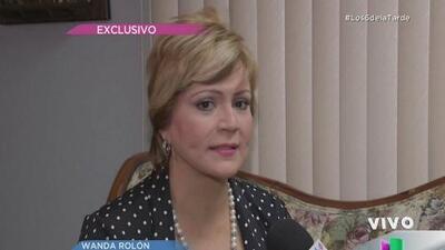 Wanda Rolón felicita a Ricardo Rosselló