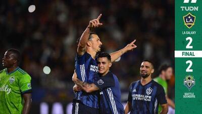 Zlatan recuperó subliderato de goleo pero el Galaxy no pudo vencer al Seattle de Ruidíaz