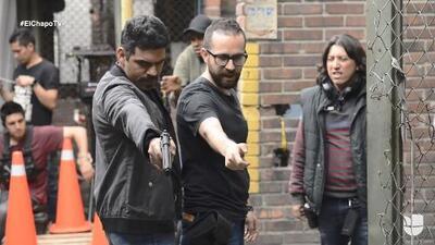 Los peligros que corre un actor en las escenas de acción de la serie 'El Chapo'