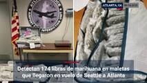 Detectan 174 libras de marihuana en maletas que llegaron en vuelo de Seattle a Atlanta