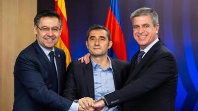Ernesto Valverde renueva con el Barcelona por una temporada más