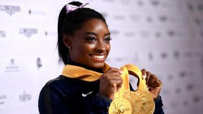 Simone Biles hace historia al ser la gimnasta con más medallas de la historia en los mundiales de su deporte