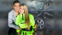 Emir Pabón y su esposa embarazada sufren accidente automovilístico