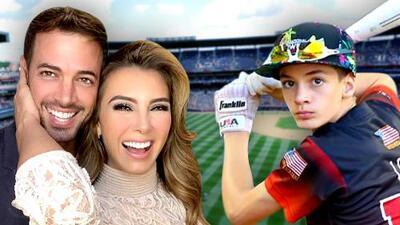 Ya sabemos de quién heredó el hijo de William Levy el talento para el béisbol