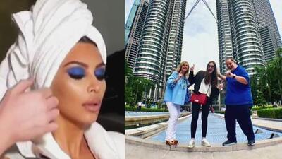 En video: el golpe que Kim Kardashian le metió a su maquillista y las vacaciones de Raúl en Malasia