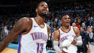 Carrusel NBA: Paul George y Russell Westbrook se destacaron en la noche del lunes con el Thunder