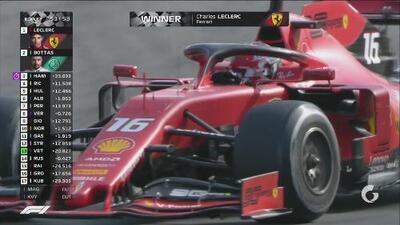 ¡Bandera a cuadros! Leclerc ganó el Gran Premio de Italia
