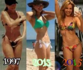 Thalía muestra en estas fotos que su cintura es la más delgada del espectáculo