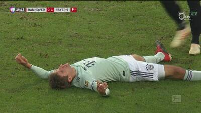 Thomas Muller perdonó al Hannover del segundo gol del Bayern