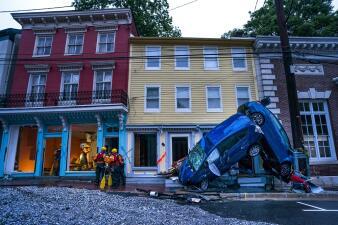 Llueve sobre mojado: gigantescas inundaciones en Maryland arrasan una ciudad que ya sufrió en 2016