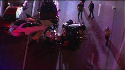 Accidente de tránsito en la autopista Palmetto mantiene varios carriles cerrados