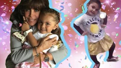 Una abuela enternecida: no te pierdas a Verónica Castro con su nieta Rafaela en su cumpleaños