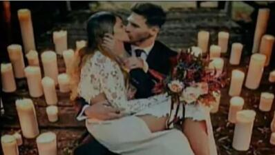Todos se creyeron este tierno beso de Messi en su boda, pero no fue real: fue un delito