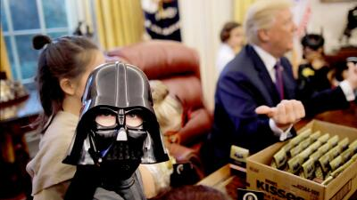 El día en que el terror de Halloween reina en la Casa Blanca (fotos)