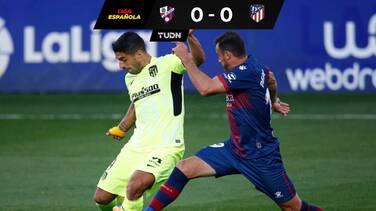 Con Suárez como titular, el Atlético no pudo con el Huesca